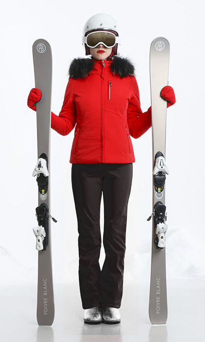 Poivre Blanc womens red ski jacket